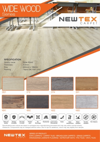 Widewood 3mm Vinyl Tiles